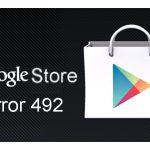 Play Store, error 492, Download Error