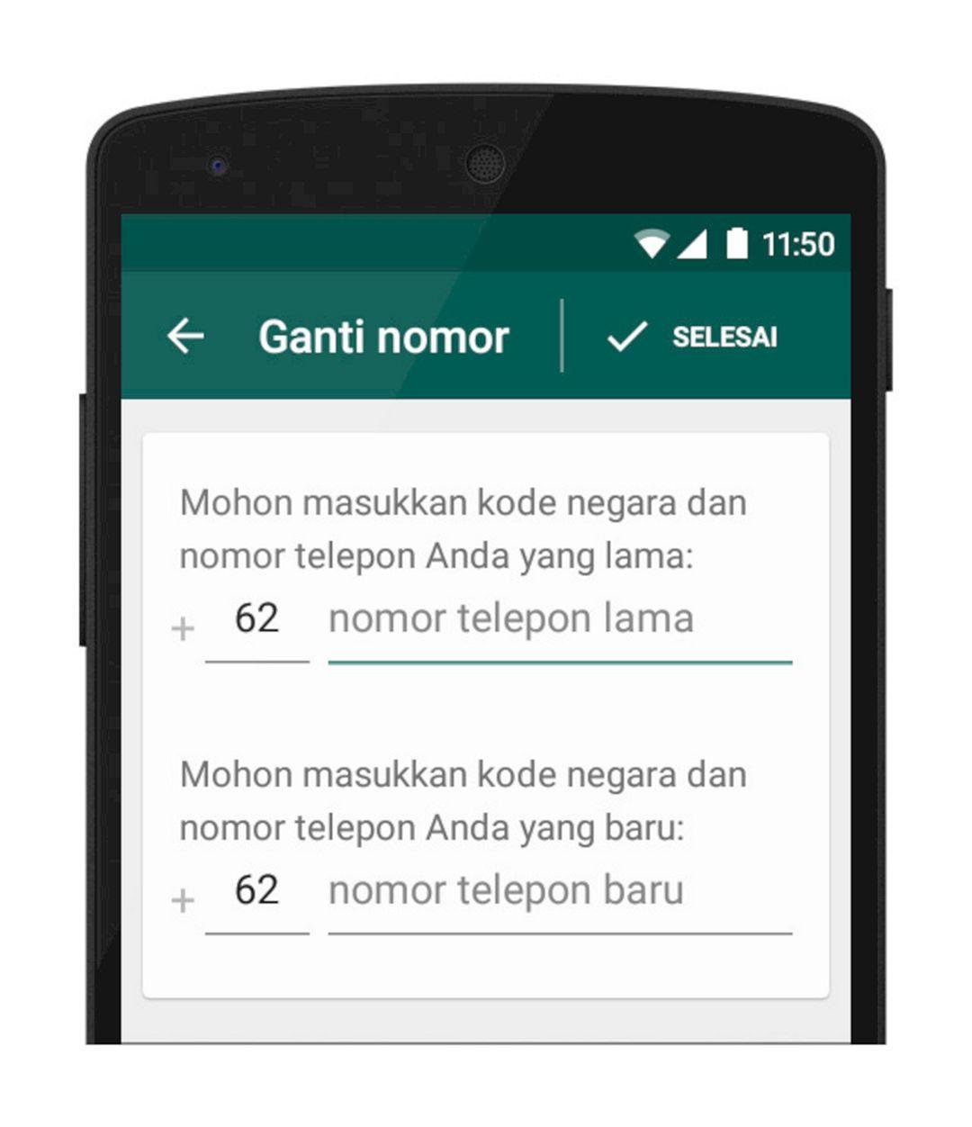 Cara Ganti Nomor HP WhatsApp